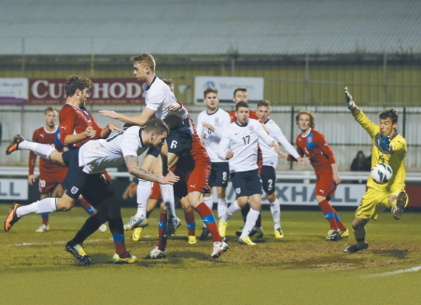 10SOCCER-England C v Czech Republic